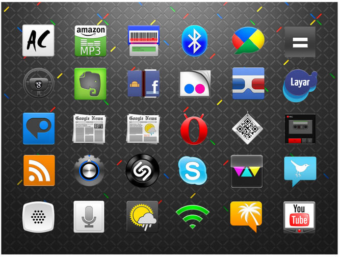 Android Icons for Phones and Tablets