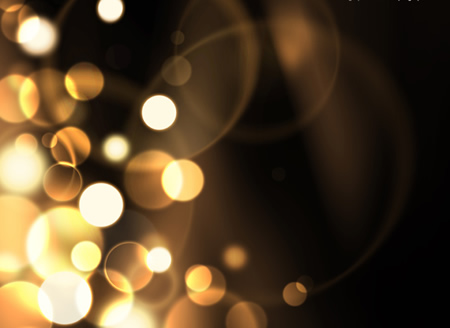 Brown and Yellow Glowing Bubble Background