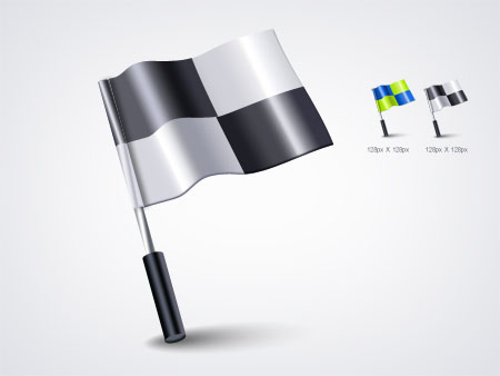 Checkered Flag Icon For Photoshop