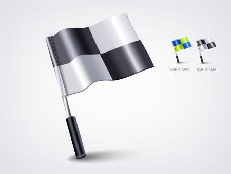 Checkered Flag Icon PSD