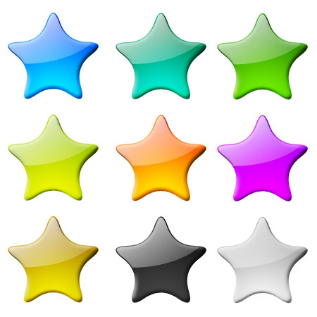 Glossy Stars for Photoshop