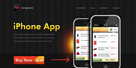 iPhone app store photoshop template