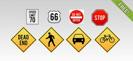 Traffic Sign Set for Photoshop