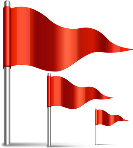 Waving Flag Icon PSD and PNG