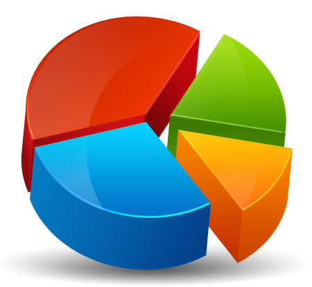 Awesome 3D Pie Chart Icon Design