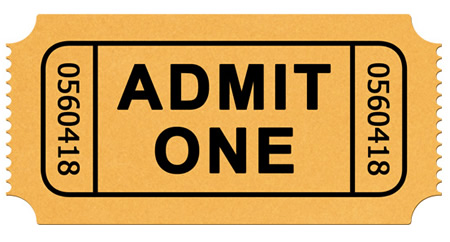 Admission Ticket Icon Template