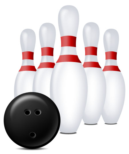 Bowling Pins and Ball for Photoshop