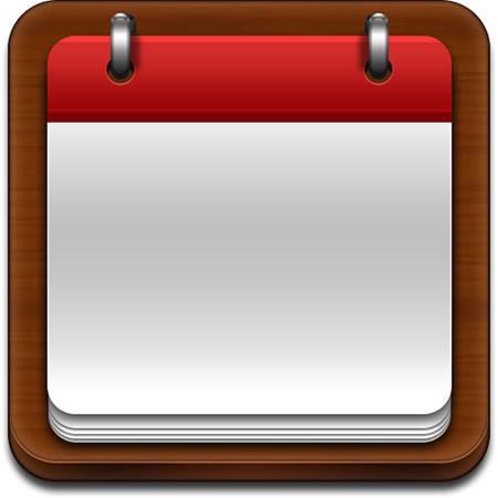 Blank Calendar Icon Template PSD