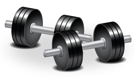 Dumbbell Icon Fitness for Photoshop