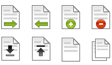 Vector Shaped File Icons