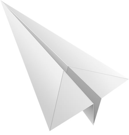 Paper Airplane Icon PSD and PNG