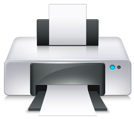 Vector Shaped Printer Icon for Photoshop