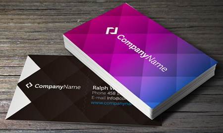 Creative Purple Business Card Template