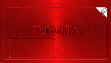 Red Brushed Metal PS Vita Lock Screen