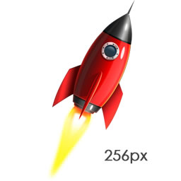 Rocket Ship Psd And Png Icon