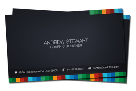 Dark Style Business Card Template