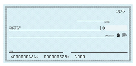 Blank Check Template for Photoshop