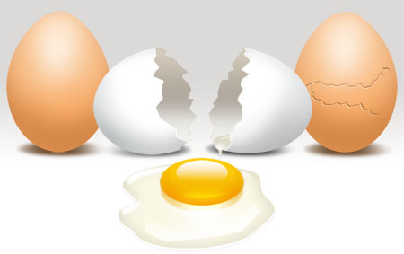 Cracked Eggs and Yolk