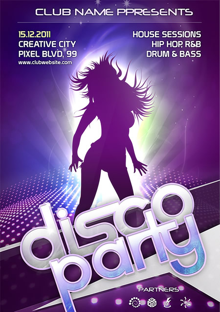 Party Flyer Template for Photoshop