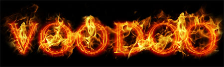 Realistic Fire Text Effect for Photoshop