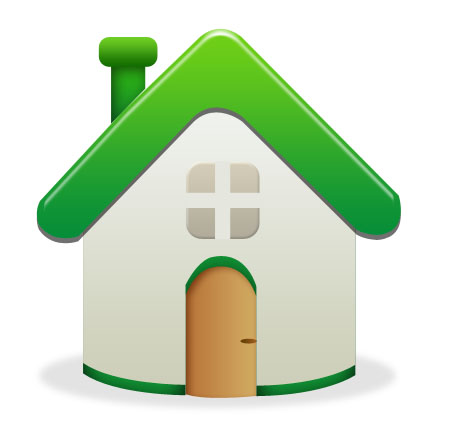 Vector Shaped Home Icon