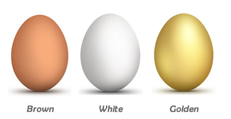 Realistic Colored Egg Icons