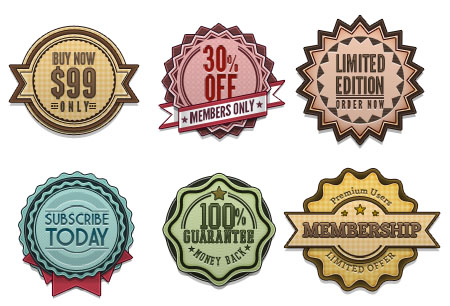 Vintage and Retro Badges