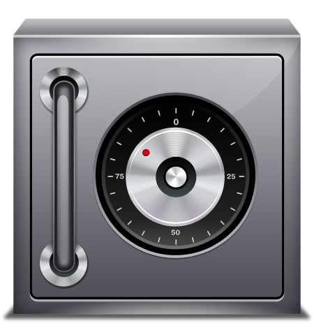 Safe Security Icon for Photoshop