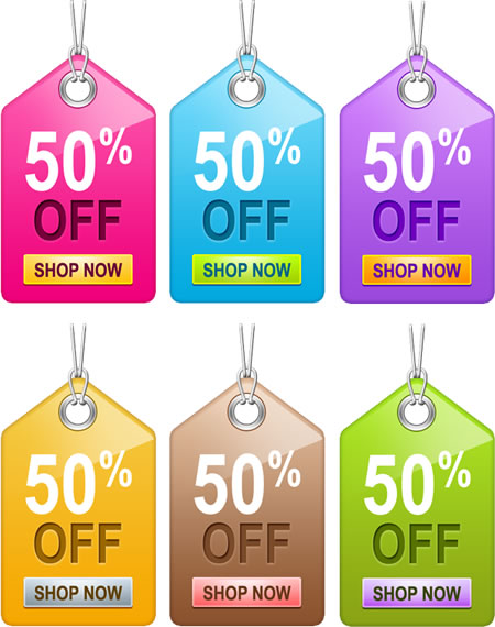 Sale Tag Templates for Photoshop