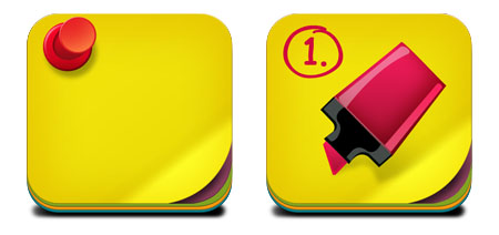 Sticky Note Pad Icons for Photoshop