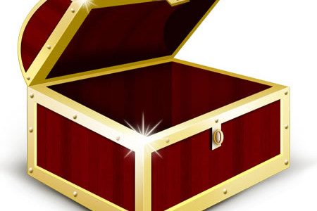 Treasure Chest Icon PSD and PNG