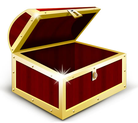 Treasure Chest Icon PSD & PNG