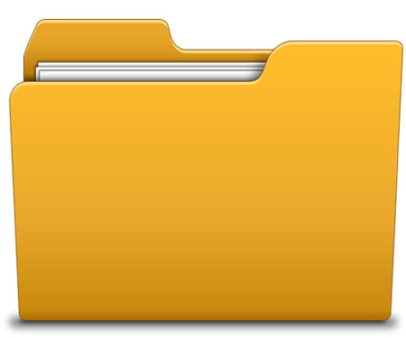 Yellow File Folder Icon
