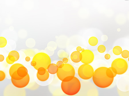 Yellow And Orange Bubble Abstract Background