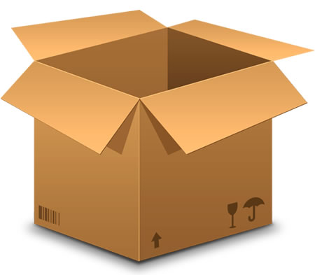 Brown Shipping Box Icon