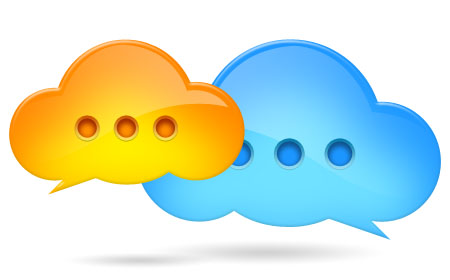 Cloud Bubble Icons PSD