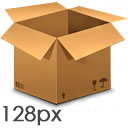 Cardboard Box Icon 128px