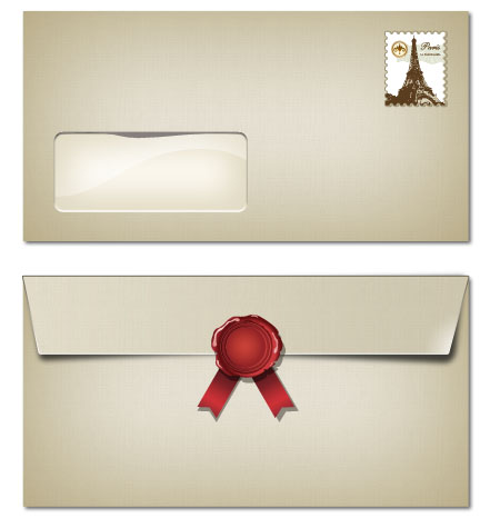 2 Sided Blank Envelope Template