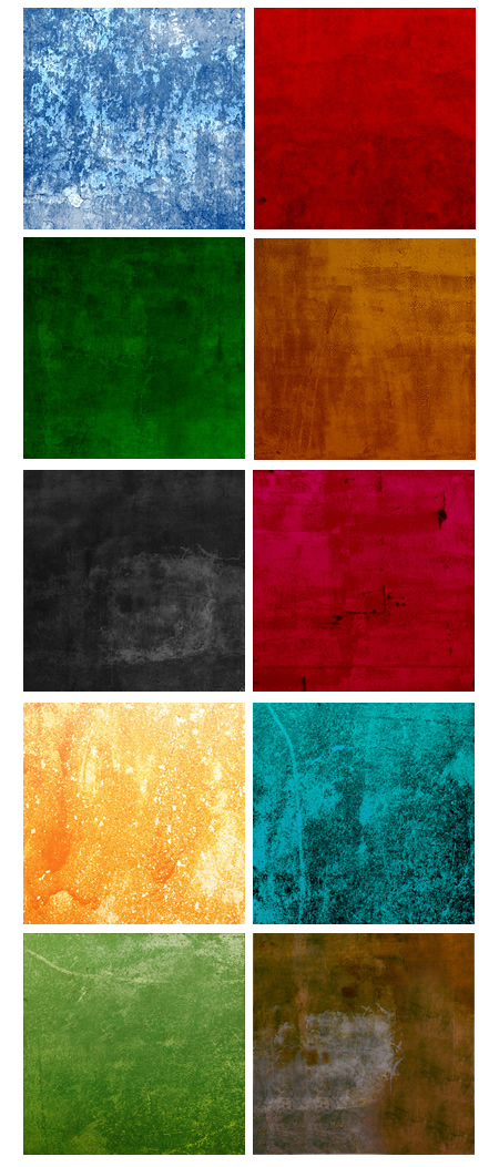 10 Colorful Grunge Textures