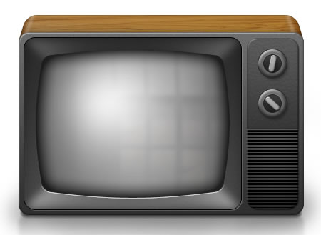 Vintage Television Icon PNG