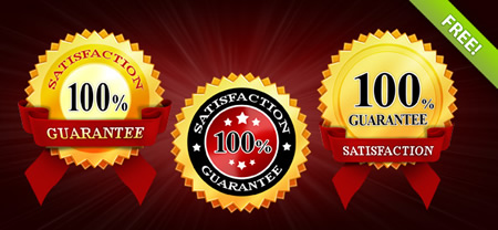 Satisfaction Guaranteed Badge Templates