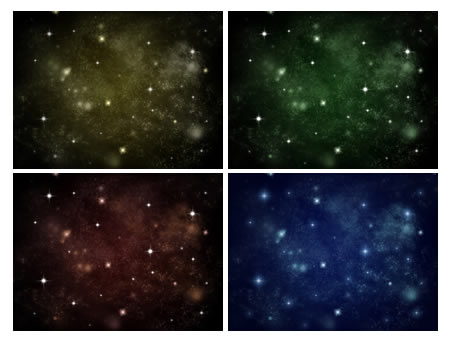High Resolution Space Backgrounds