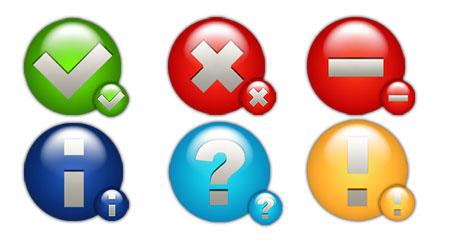 Round Status Icons