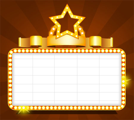 Blank Theater Sign Template
