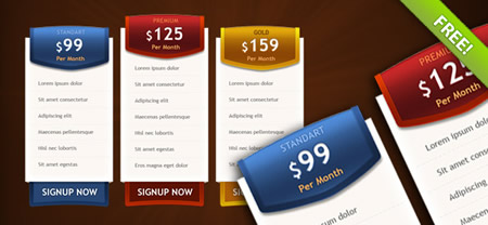 Pricing Box Templates for Photoshop
