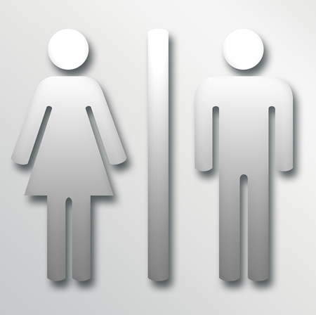 Male & Female Restroom Sign