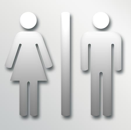 High Quality Bathroom Signs Metal Male U0026 Female Restroom Sign