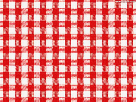 Red, White Checkerd Tablecloth Texutured Background