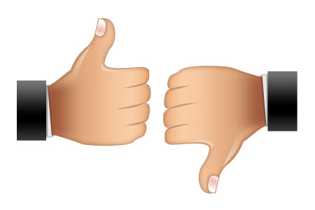 Rating Symbols Thumbs Up, Thumbs Down