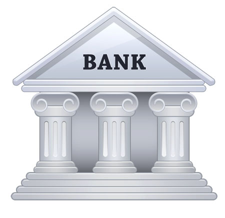 Vector Bank Building Icon
